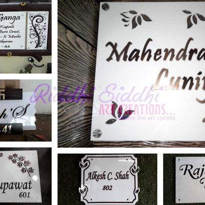 Exclusive Customized Nameplates Hyderabad Riddhi Siddhi